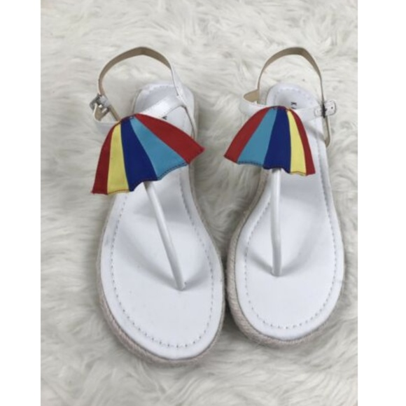 49e99de1d509 Katy Perry Shay Umbrella White Cabana Sandals
